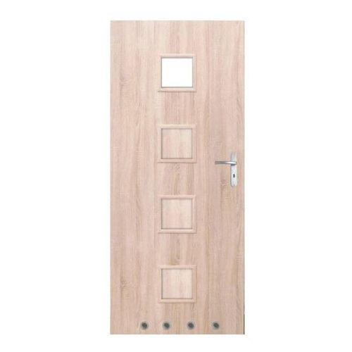 Drzwi z tulejami Clara 60 lewe dąb sonoma
