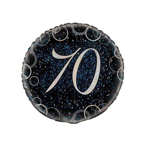 Balon foliowy błyszczący niebieski - 70tka - 47 cm - 1 szt.