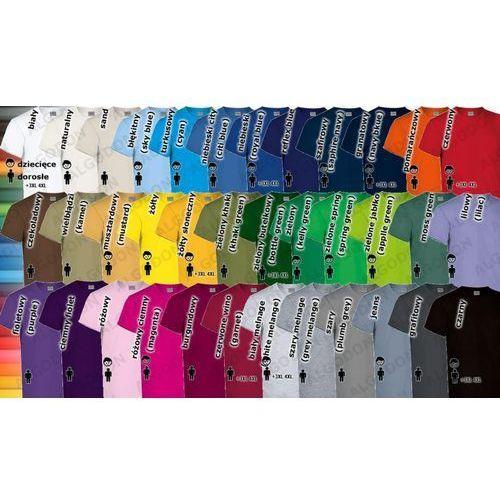 T-shirt koszulka gruba bawełna 180g dorosłe rozmiary XS-2XL Racing L burgundowy, 1 rozmiar