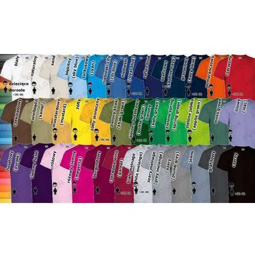 T-shirt koszulka gruba bawełna 180g dorosłe rozmiary xs-2xl racing m burgundowy marki Valento