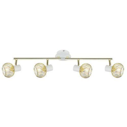 oslo 94-61812 lampa punktowa 4x40w e14 biały + złoty marki Candellux
