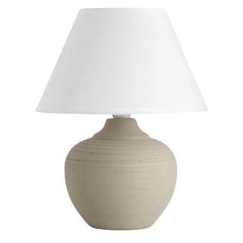 Lampa lampka stołowa Rabalux Molly 1x40W E14 beżowy/biały 4391