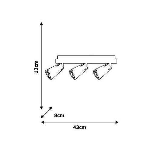 Oświetlenie punktowe RICK 3xE14/40W/230V, kolor Czarny