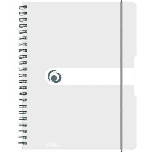 Herlitz Brulion na spirali a4/80k kratka pp transparentny (4008110464527)