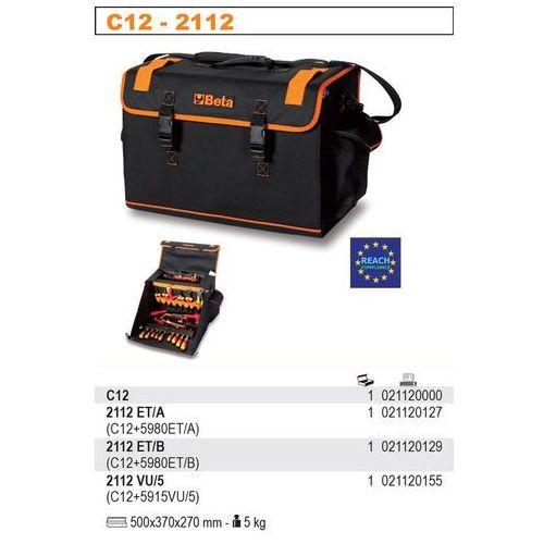 Beta Torba narzędziowa 2112/c12 z zestawem 64 narzędzi, model 2112et/b