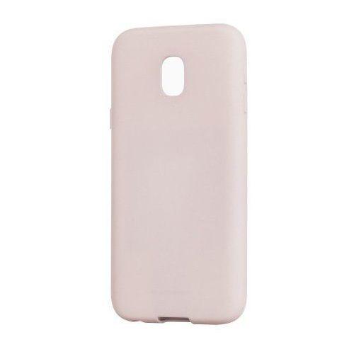 Etui Mercury Goospery Soft Feeling Case żelowe Samsung Galaxy J3 2017 J330 beżowe, kolor beżowy