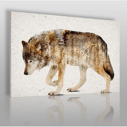 Vaku-dsgn Wataha leśnych szumów - nowoczesny obraz na płótnie