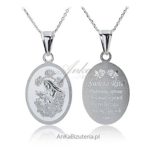 Anka biżuteria Medalik srebrny św. rita patronka spraw beznadziejnych. Najniższe ceny, najlepsze promocje w sklepach, opinie.