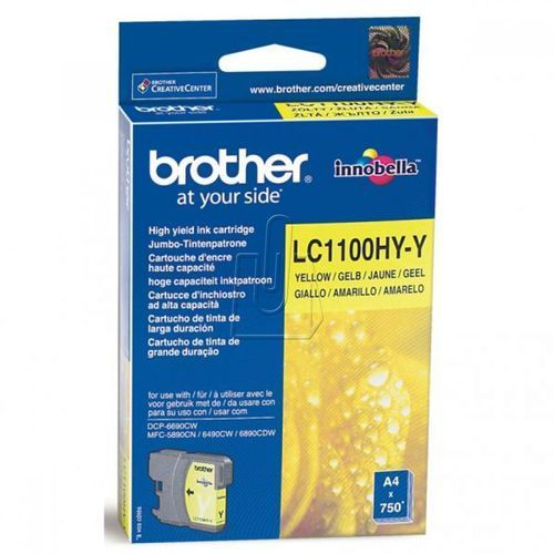 Tusz Brother LC-1100 yellow, A8950