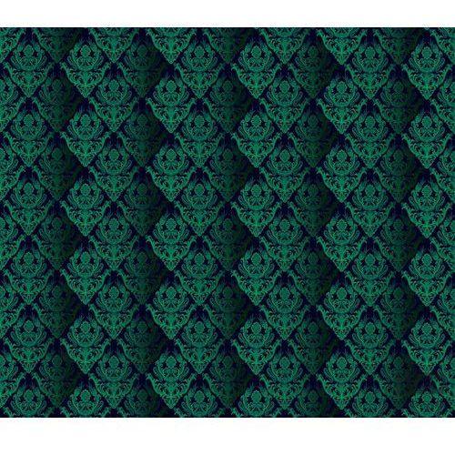 Fototapeta tradycyjne kwiatowe wzory – zielone na czarnym tle 1462 marki Consalnet