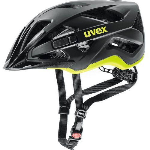 Uvex active cc kask rowerowy, black-yellow matt 56-61cm 2019 kaski miejskie i trekkingowe