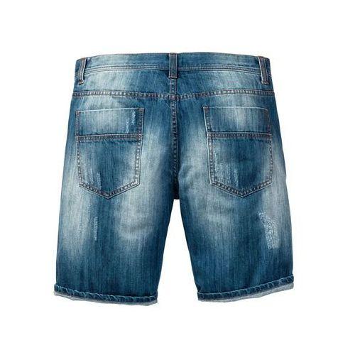 "Bonprix Bermudy dżinsowe loose fit niebieski ""medium bleached used"