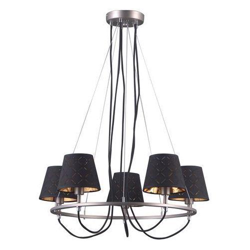Lampa wisząca Terry 5 x 40 W E14 satyna/nikiel/chrom, kolor Srebrny