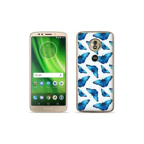 etuo Fantastic Case - Motorola Moto G6 Play - etui na telefon Fantastic Case - niebieskie motyle