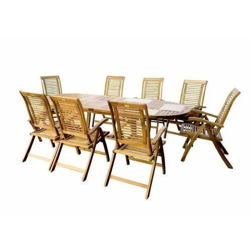 Hecht royal set meble ogrodowe zestaw mebli ogrodowych stół + 8 krzeseł drzewo akacja - ewimax oficjalny dystrybutor - autoryzowany dealer hecht marki Hecht czechy