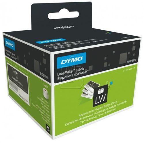 Etykiety do drukarek etykiet DYMO S0929100, 89 x 51 mm, Karty z przypomniami, Wizytówki, biały, S0929100
