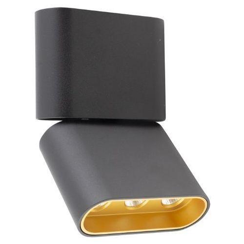 MAXlight Marvel C0150 plafon tuba lampa sufitowa oprawa spot 3x4W LED czarny/złoty (5903351003230)