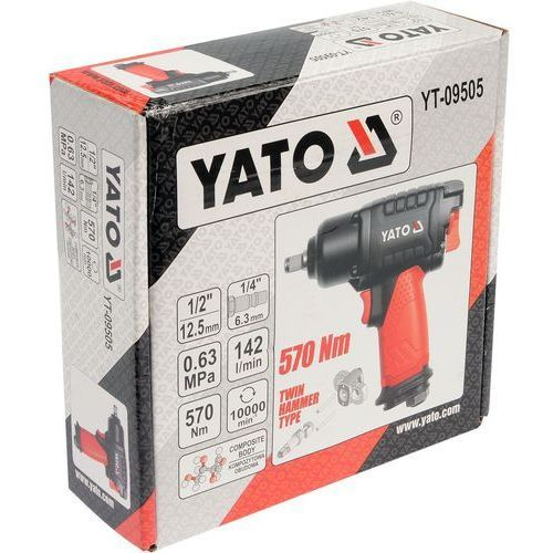 Yato Klucz pneumatyczny udarowy 1/2'' kompozytowy 570nm yt-09505