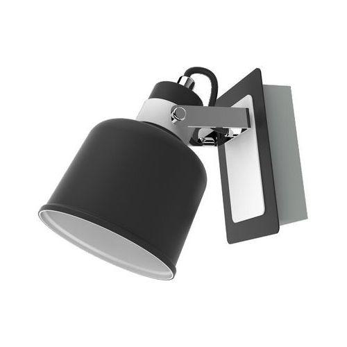 Kinkiet lampa ścienna spot kama 1x40w e14 czarny / biały / chrom kr 341-1w marki Krislamp
