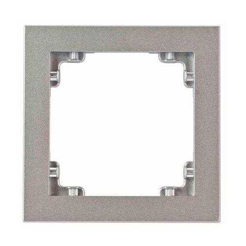 Ramka uniwersalna pojedyncza DECO Karlik srebrny metalik 7DR-1, kolor srebrny