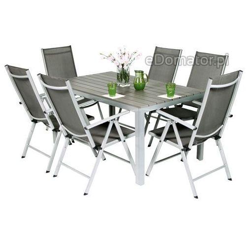 Stół ogrodowy aluminiowy modena - srebrny - srebrny marki Edomator.pl