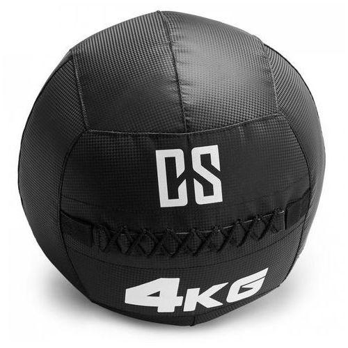 Capital sports Bravor piłka lekarska wall ball pcv podwójne szwy 4kg czarna