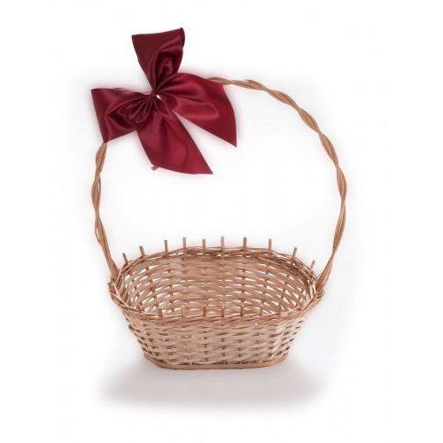 Wyroby z wikliny pph jan wnuk Wiklinowy kosz prezentowy na kwiaty prezenty na prezent z pięknymi kokardami
