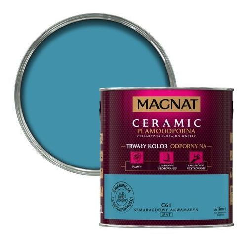 Farba Magnat Ceramic szmaragdowy akwamaryn 2,5 l, kolor zielony
