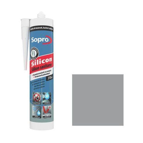 Silikon sanitarny Sopro 310 ml szary 15