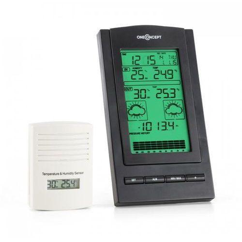 OneConcept Isfjorden Stacja pogodowa Alarm Zasilanie baterią 1 x zewnętrzny czujnik radiowy (4260457481593)