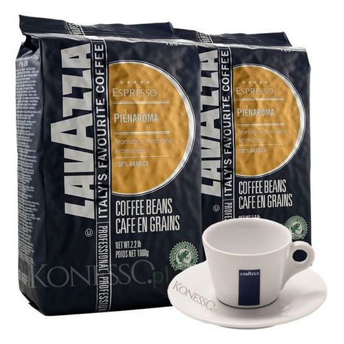 Zestaw - kawa  pienaroma 2x1kg + filiżanka lavazza marki Lavazza