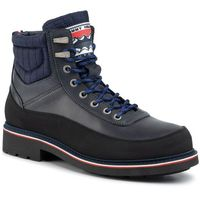 Trzewiki - material mix corporate boot fm0fm02590 desert sky dw5, Tommy hilfiger, 41-45
