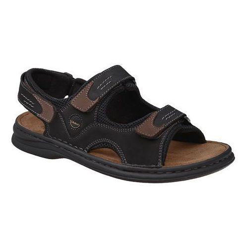 Sandały JOSEF SEIBEL 10236 11 101 Franklyn Schwarz Kombi Czarne - Czarny, kolor czarny