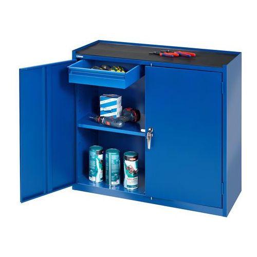 Aj produkty Szafka warsztatowa, 2 szuflady, 900x450x950mm, niebieski