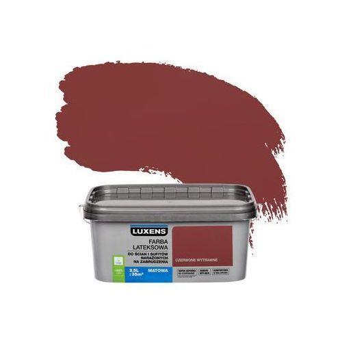 Farba wewnętrzna narażonych na zabrudzenia 2,5 l czerwone wytrawne marki Luxens
