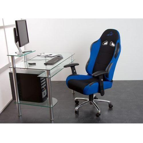 Niebieski kubełkowy fotel biurowy obrotowy daytona - niebieski marki Makstor.pl