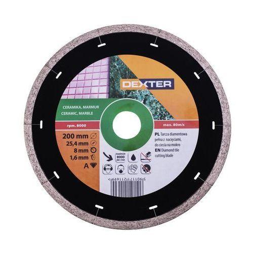 Tarcza diamentowa 200 x 25.4 mm ciągła marki Dexter