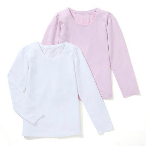 T-shirt jednobarwny z długim rękawem, 3-12 lat (opakowanie 2 szt.)