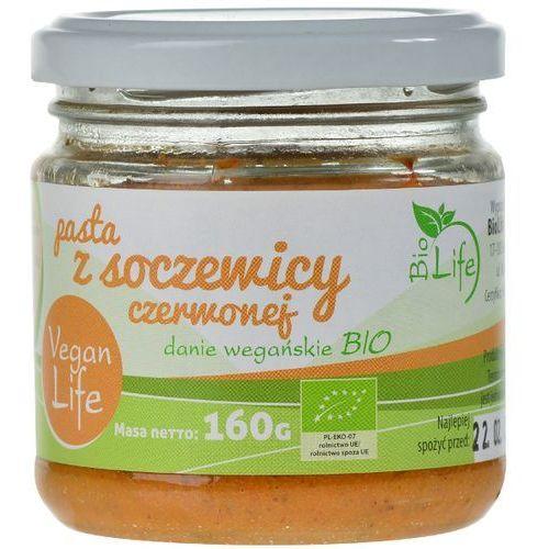 160g pasta z soczewicy czerwonej bio | darmowa dostawa od 150 zł! wyprodukowany przez Biolife
