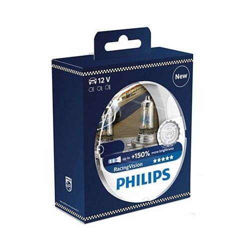 Philips 2x  h4 racing vision +150%