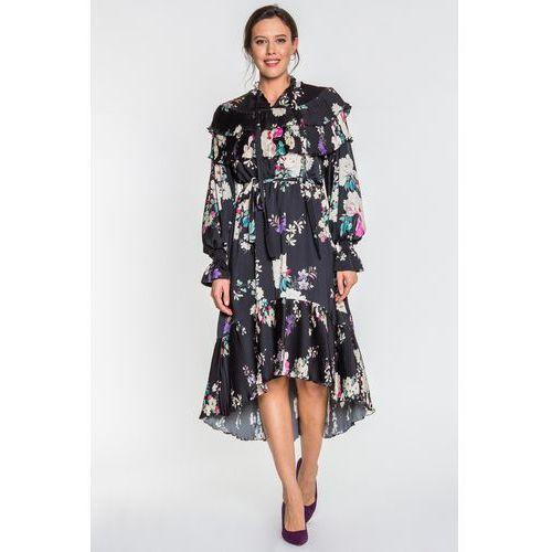 Tova Sukienka w kwiaty black flower -