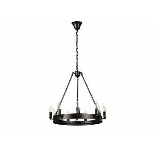 Lampa wisząca zwis Britop Lighting Bellona 9x60W E14 czarna 9800904, kolor Czarny