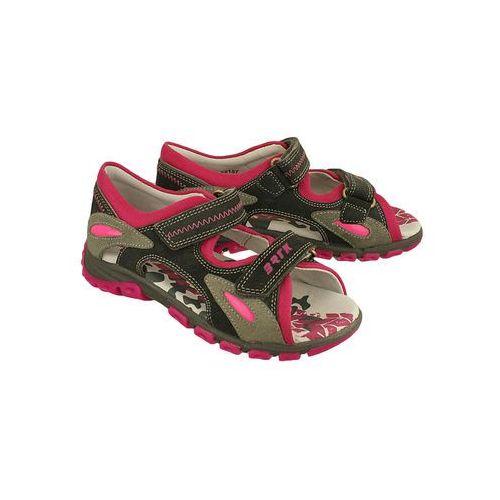 Bartek 69157-q63 szaro-różowy, sandałki dziecięce, rozmiary 33-38 - szary