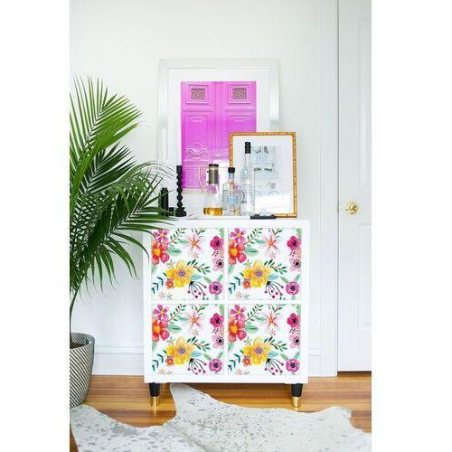Naklejki ikea kallax kolorowe abstrakcyjne kwiatki marki Coloray.pl