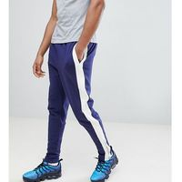 tall skinny joggers in blue with side stripe - blue marki Sixth june