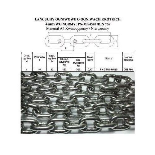 ŁAŃCUCH KWASOODPORNY FI 4 DIN 766 NIERDZEWNY A4 - produkt z kategorii- Pozostałe sporty wodne