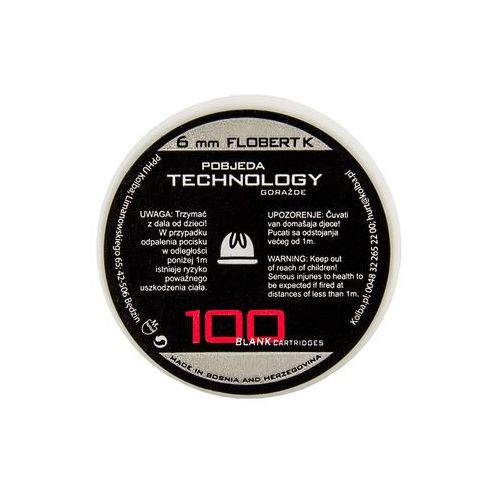 Ptg - pobjeda technology Amunicja hukowa ptg 6 mm short flobert k 100 szt. (3877000251148)