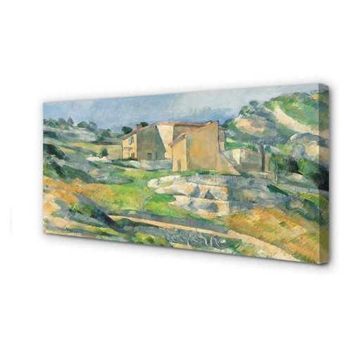 Obrazy na płótnie Sztuka malowany dom na wzgórzu