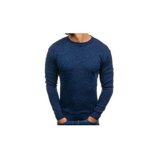 Sweter męski granatowy Denley H1706, kolor niebieski