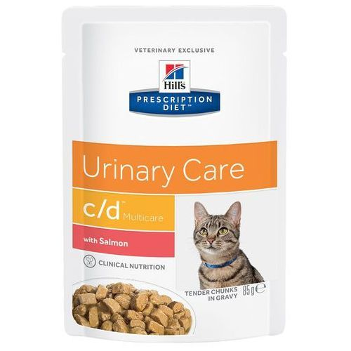 feline c/d urinary care, łosoś w sosie - 12 x 85 g marki Hills prescription diet